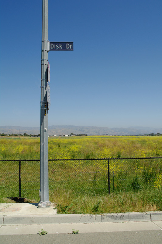 Street sign for Disk Drive, San Jose, CA