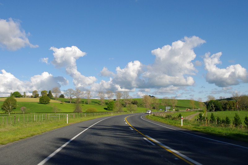 Driving on the left side of the road in New Zealand