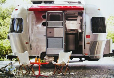 Airstream trailer, outfitted by DWR