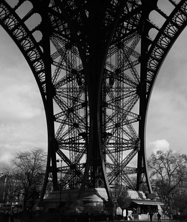 The Eiffel Tower's east piler