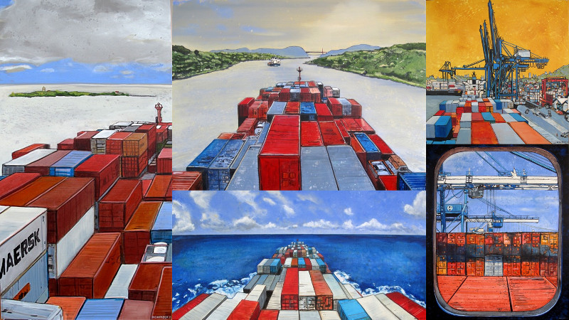 eric rewitzer panamax finished paintings collage