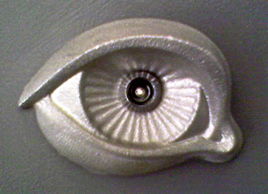 Eye-shaped peephole at Yerba Buena Center for the Arts