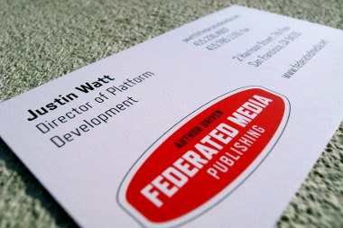 Federated Media business card