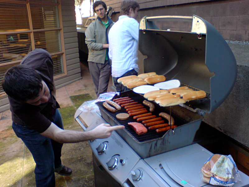 Grilling for lunch at Federated Media