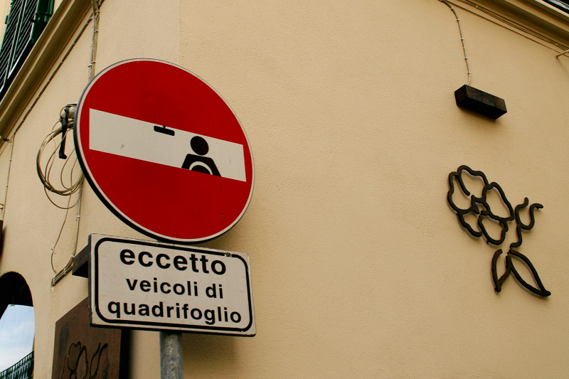 Street art in Florence (Firenze), Italy by Clet Abraham