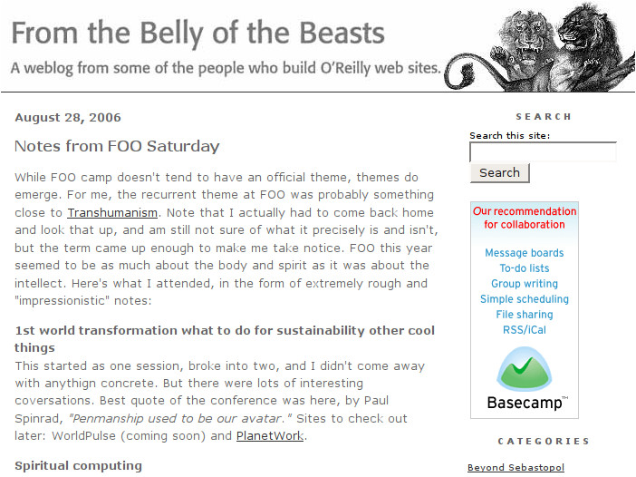 Screenshot of OPG's 'From the Belly of the Beasts' blog
