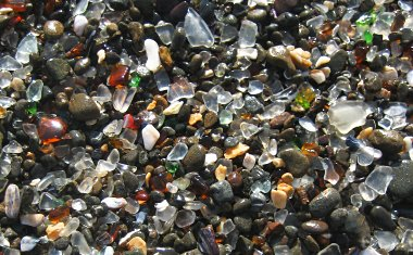 Glass Beach, up close