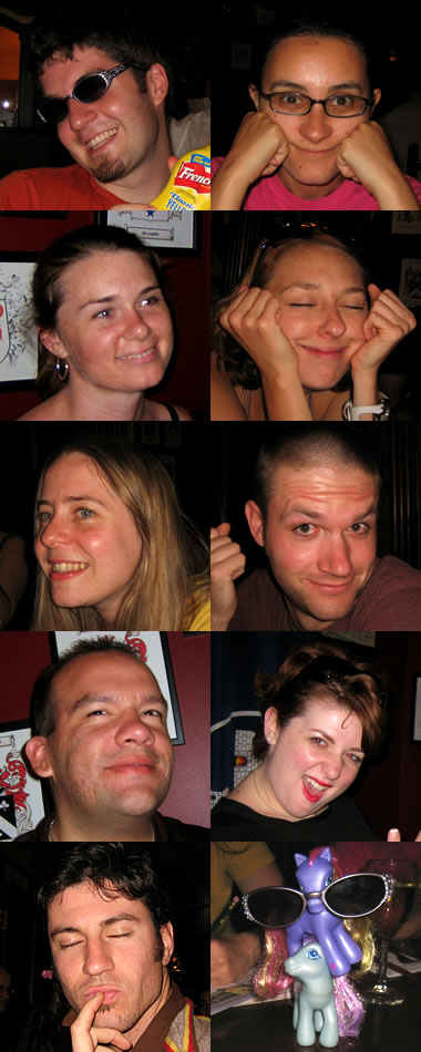 Photos of the members of the Glitter Ponies trivia team