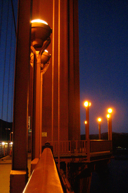 Golden Gate Bridge illuminated