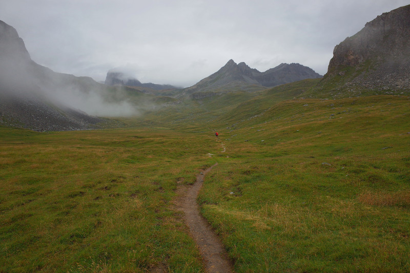 In the mountains and fog on the GR55
