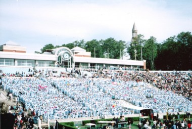 sea of carolina blue graduates