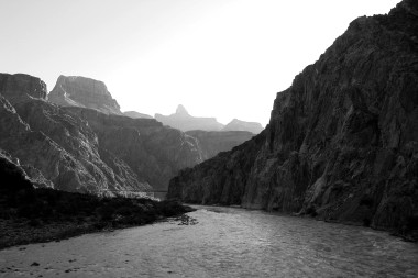 Grand Canyon dawn, crossing the Silver Bridge