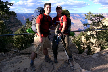 Justin and Stephanie at the top of the Grand Canyon!