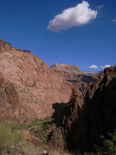 Ascending the inner canyon