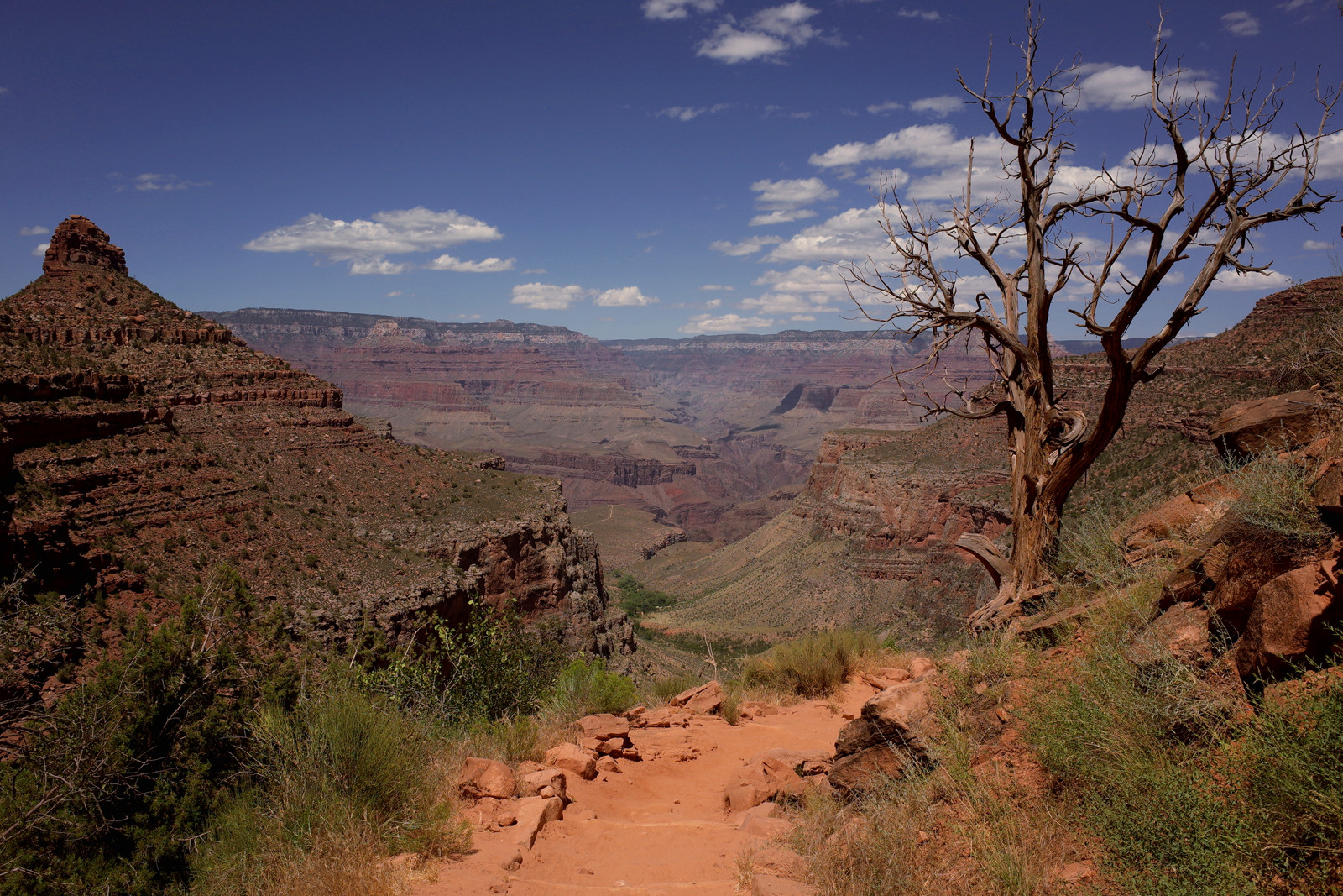 View of the Grand Canyon from the Bright Angel Trail