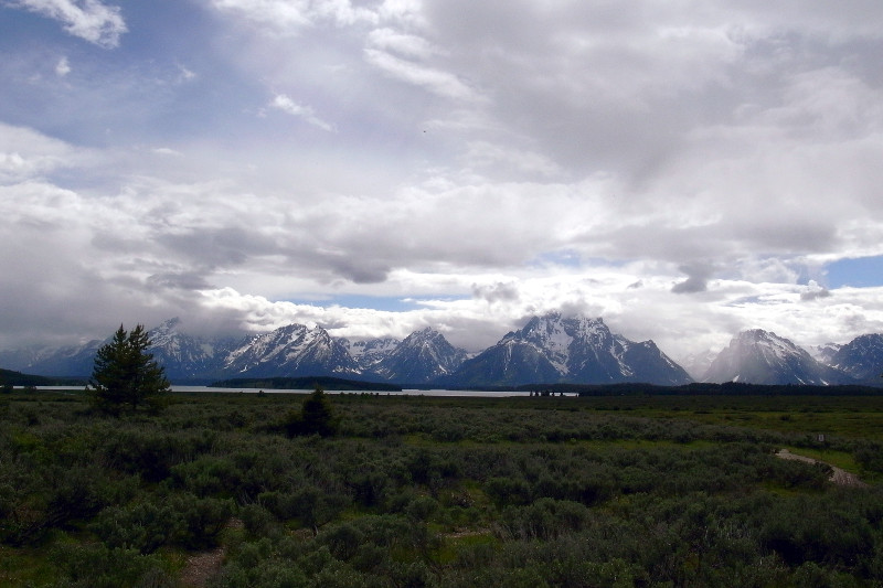 Dramatic clouds above the Tetons