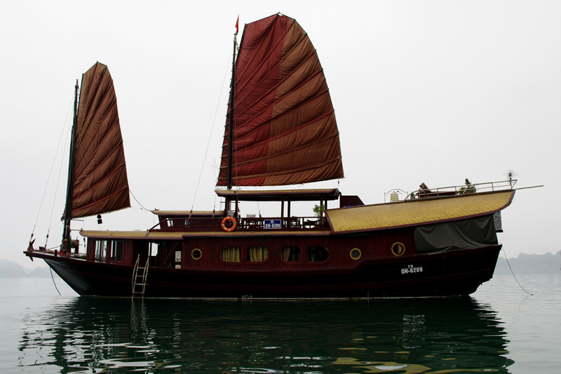 The Prince III junk boat, part of the Indochina Junk family