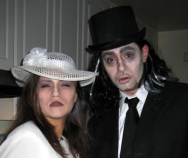 Mark and Monica all dressed up