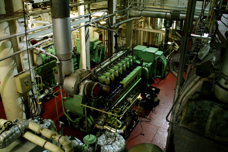The engine room of the Hanjin Palermo