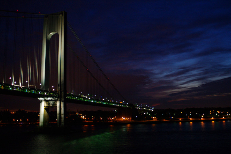 Verrazano-Narrows Bridge, seen from the Hanjin Palermo