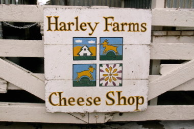 Harley Farms Cheese Shop sign