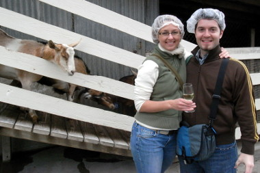 Stephanie and Justin in hair nets