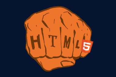 HTML5 fist with new HTML5 logo