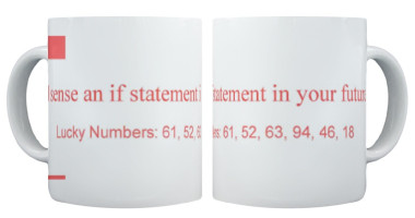 'I sense an if statement in your future' fortune cookie mug