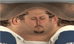Inverse panorama of a head