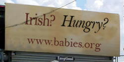 Irish? Hungry? Parody Billboard
