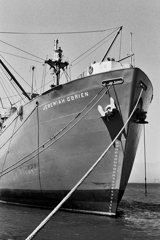 Bow of the Liberty Ship Jeremiah O'Brien