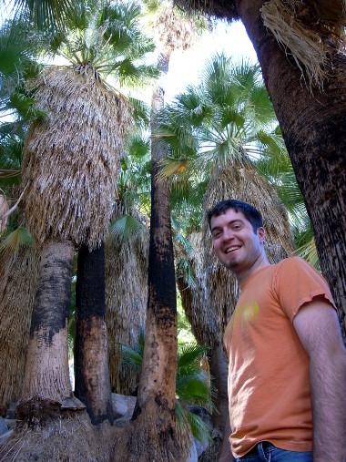 Justin in the Fortynine Palms Oasis