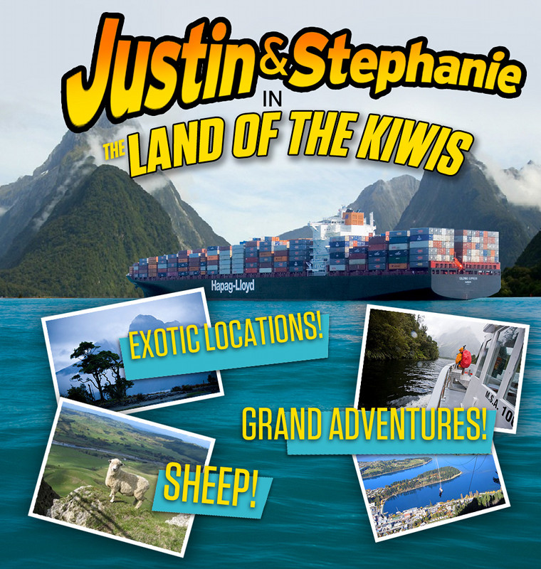 Justin and Stephanie in the Land of the Kiwis: Exotic Locations! Grand Adventures! Sheep!