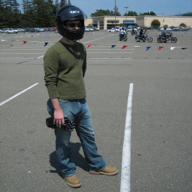 Justin geared up