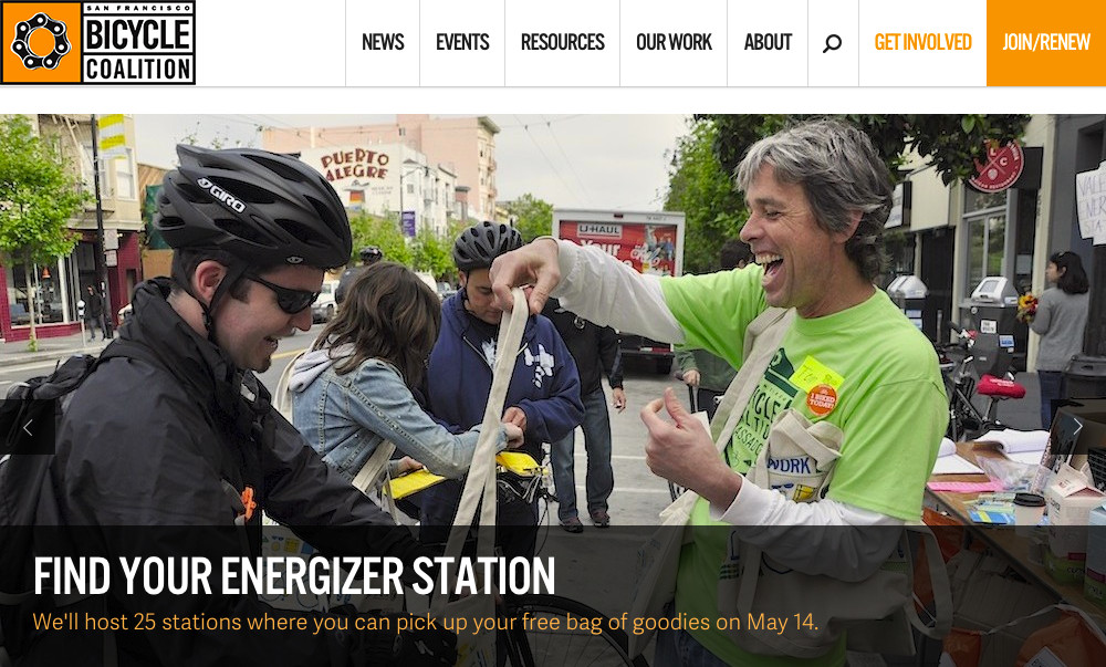 Justin on the San Francisco Bicycle Coalition website