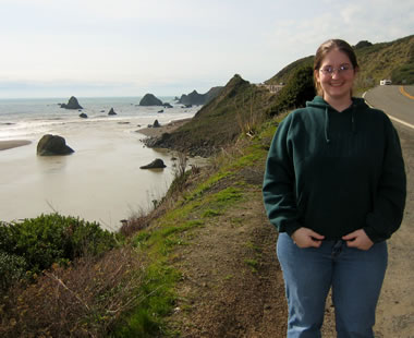 Katie in Jenner, where the Russian River meets the Pacific Ocean