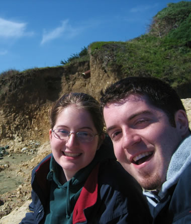 Katie and Justin on Drake's Beach, Point Reyes