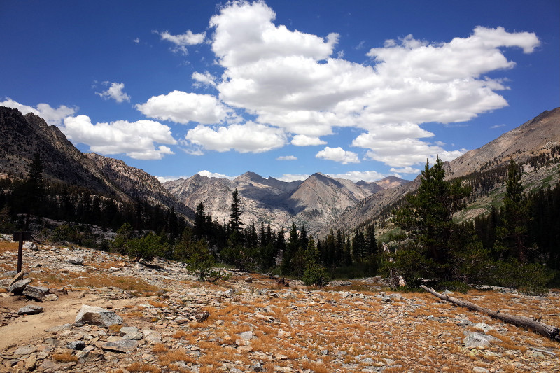 The view from our lunch spot (above 10,000 ft) Rae Lakes Loop in Kings Canyon National Park