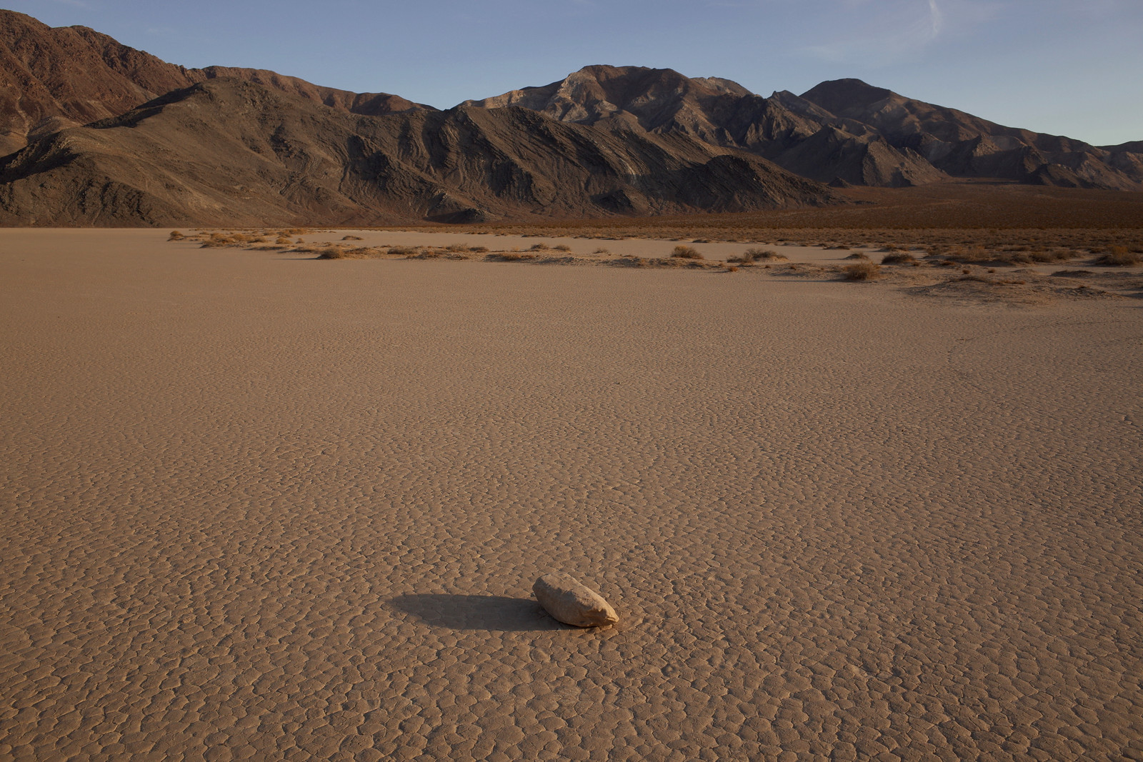 Racetrack Playa solitary stone