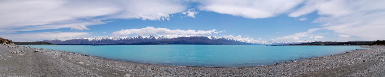 lake pukaki panorama