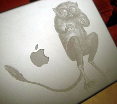 laser etched laptop