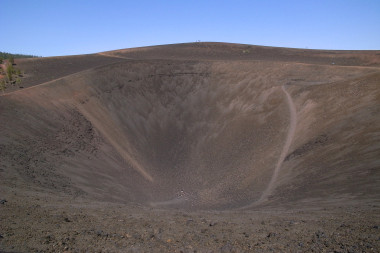 Looking inside Cinder Cone's cone