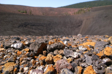 Pumice at the inner rim of Cinder Cone