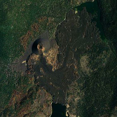 Cinder Cone seen from satellite