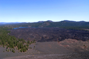 View of the Fantastic Lava Beds from the outer rim of Cinder Cone