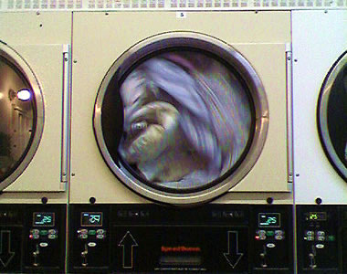 Dryer at a laundromat in San Francisco