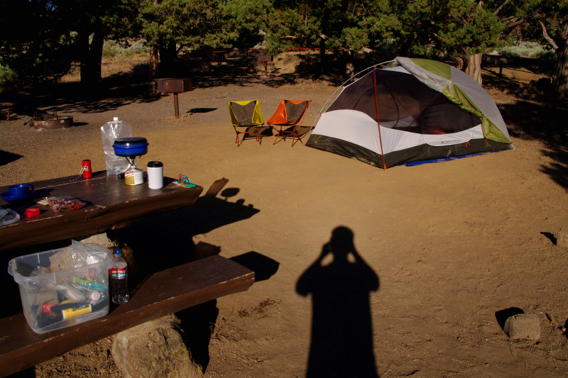 Tent at Indian Wells Campgrounds in Lava Beds National Park