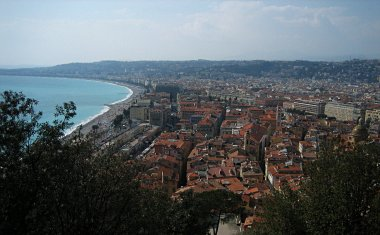 Looking down on Old Nice from Chateau de Nice