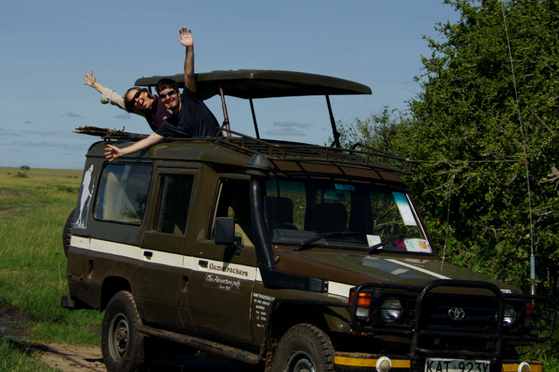 maasai mara kenya gametrackers toyota land cruiser stephanie justin