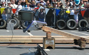 Maker Faire 2007: Power Tool Drag Race, jump of doom!!!